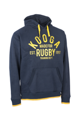 KOOGA MENS GRAPHIC TRAINING/OFF FIELD RUGBY HOODY NAVY/YELLOW