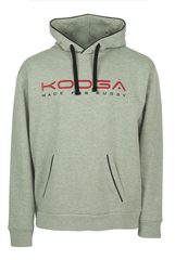 KOOGA LARGE LOGO MENS TRAINING/OFF FIELD PIPED RUGBY HOODY GREY/RED
