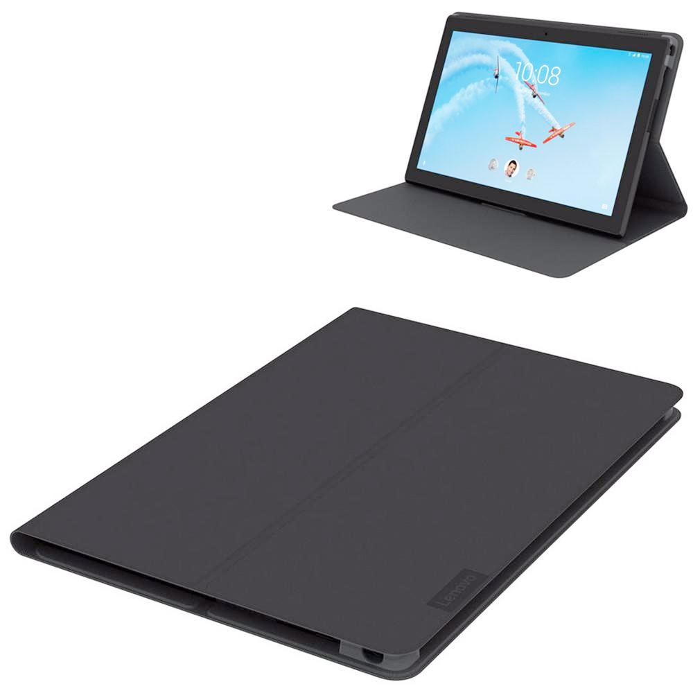 reputable site 680f2 0a883 Lenovo Tab 4 8 Plus Original Folio Case m. Beskyttelsesfilm Gråsort