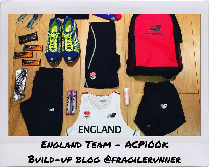 England Team - Build-up to the 22nd Anglo Celtic Plate 100k - @fragilerunner Blog