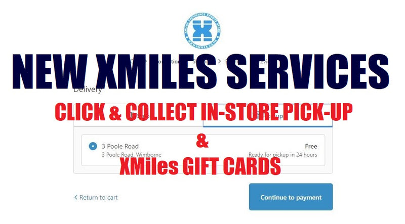 New XMiles Services - In-Store pick-up & Gift Cards