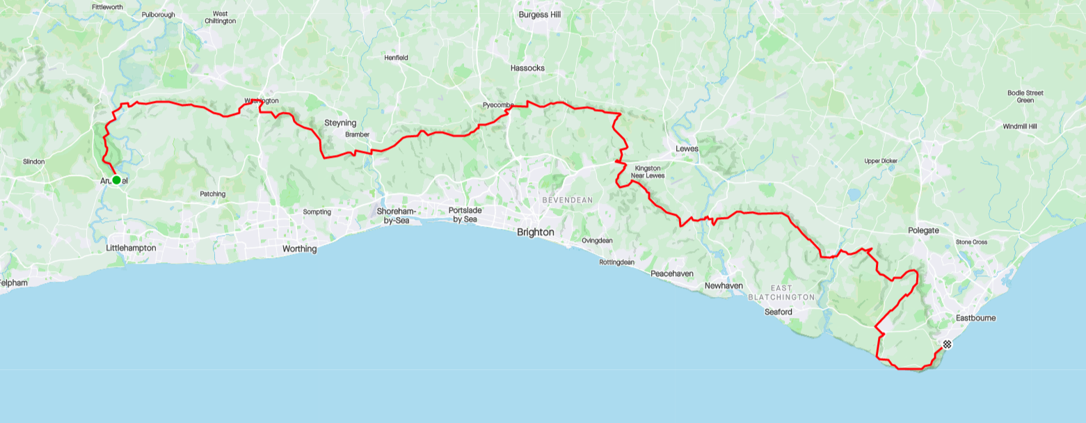 South Downs 100K Route