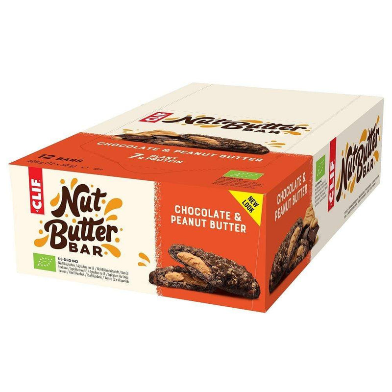 Clif Bars / Food Chocolate Peanut Butter Nut Butter Filled - 50g - Box 12 Bars