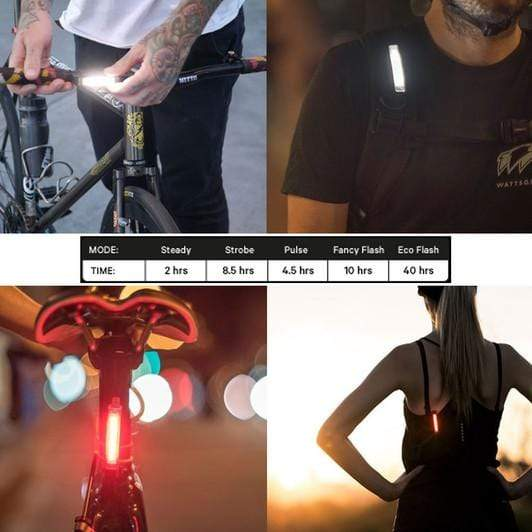KNOG Lights Twin Pack - Black Knog+ FREE Light | USB Lights (Twin Pack)