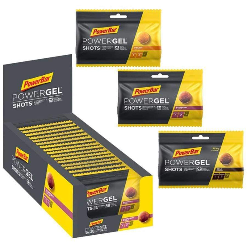 PowerBar Chews PowerGel Shots Box (16 x 60g) XMiles