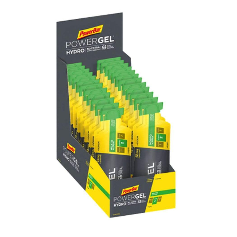 PowerBar Gels Mojito (51mg Caffeine) PowerGel Hydro 67ml Box (24 x 67ml) XMiles
