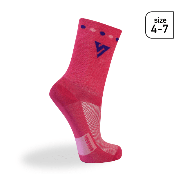 Versus Socks 4-7 Pink Cycling Race Socks