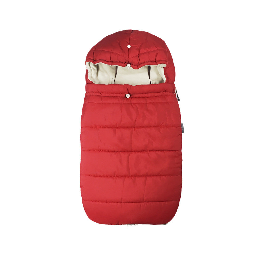 Warm Universal Red Footmuff Sleeping Bag for Baby Buggy Water Repellent