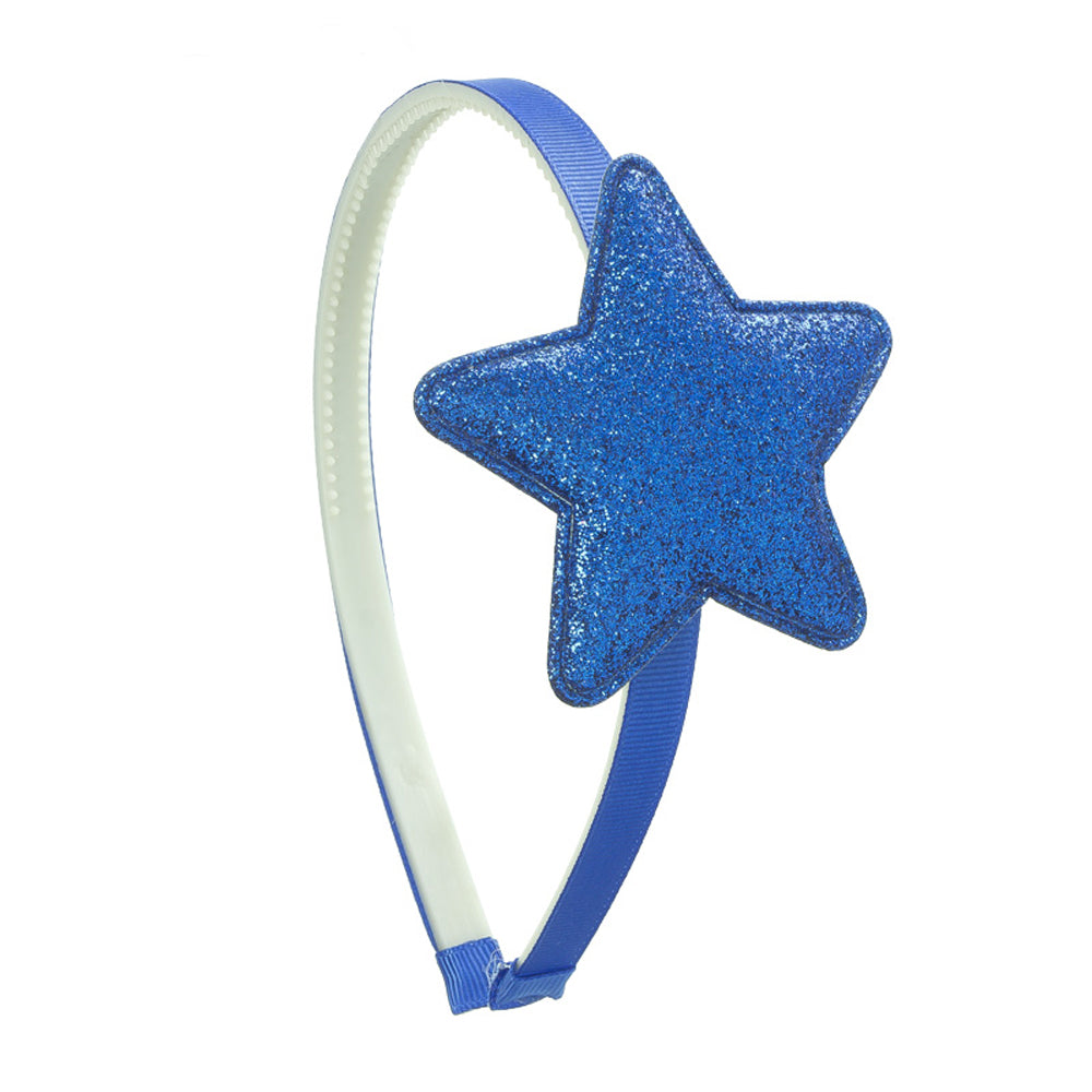 Glittery Star Lightweight Headband made with Cellulose acetate. Available in multiple colours
