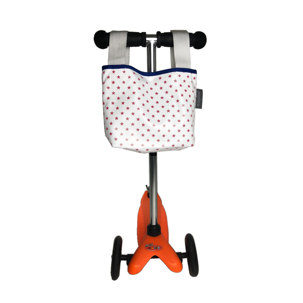 Multi-use mini bag for children scooters and bikes. Water and Stain Repellent fabric. Machine washable
