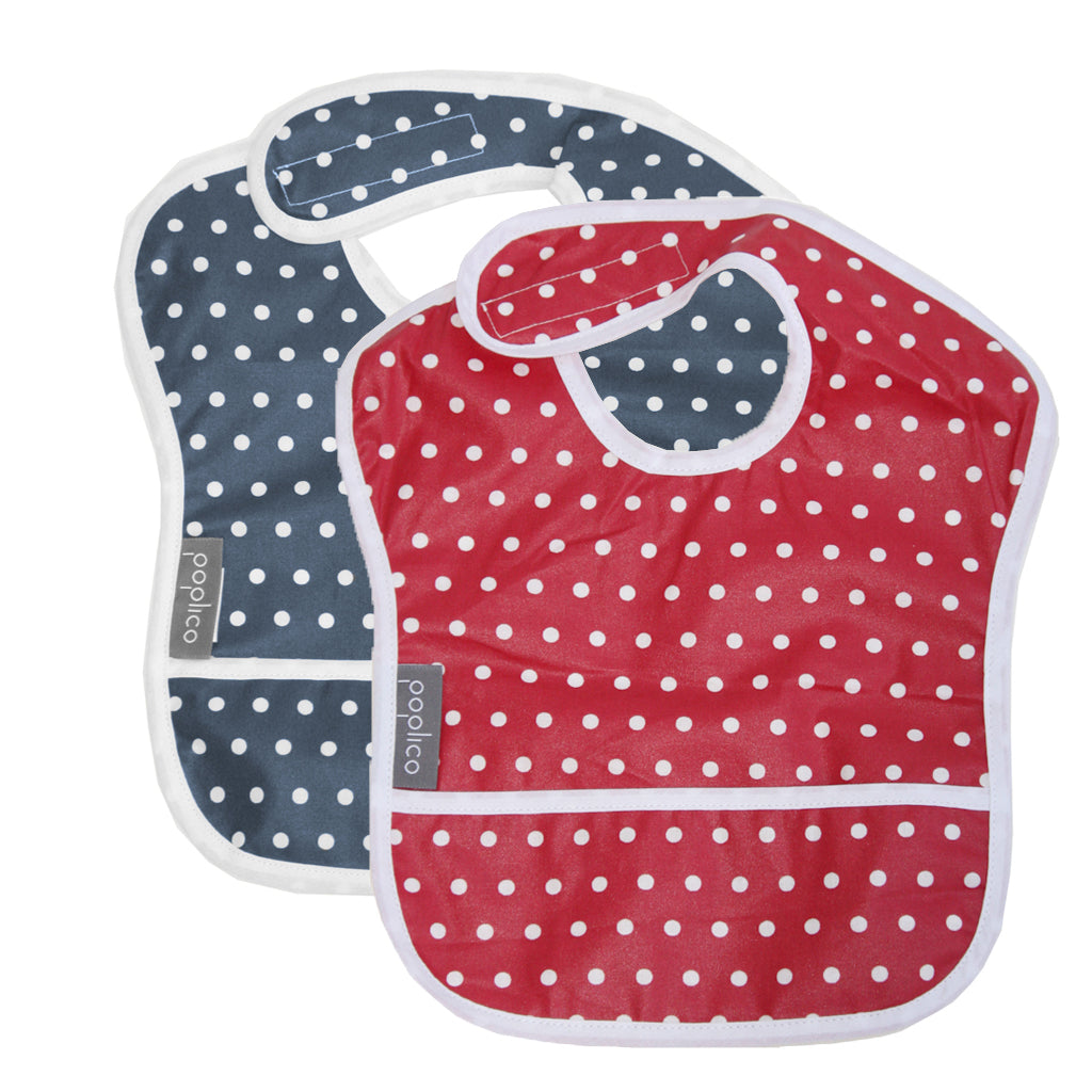 Wipe Clean Baby Bib. Water and Stain Repellent. Machine Washable