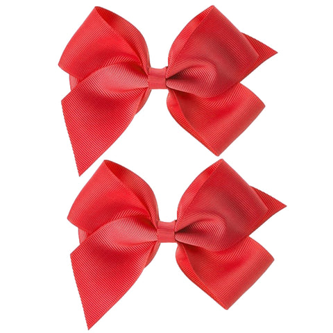 Pair of Grosgrain Bow Clips
