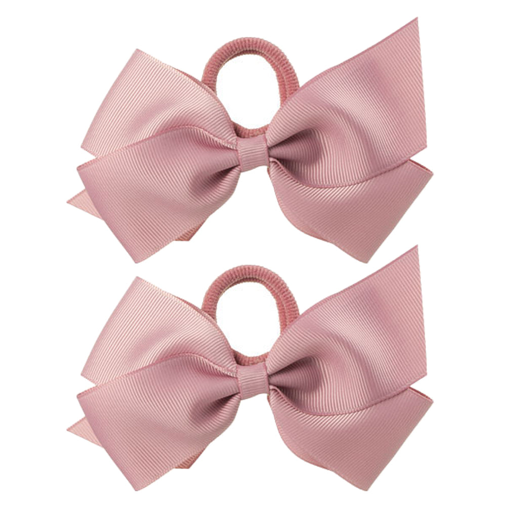 Pair of grosgrain ribbon bow pony. Bow size 8 cm