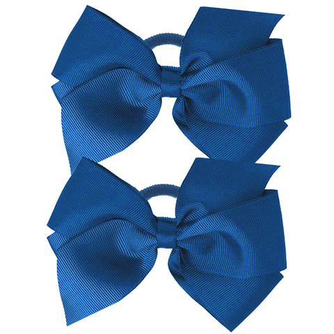 Pair of Grosgrain Bow Ponies
