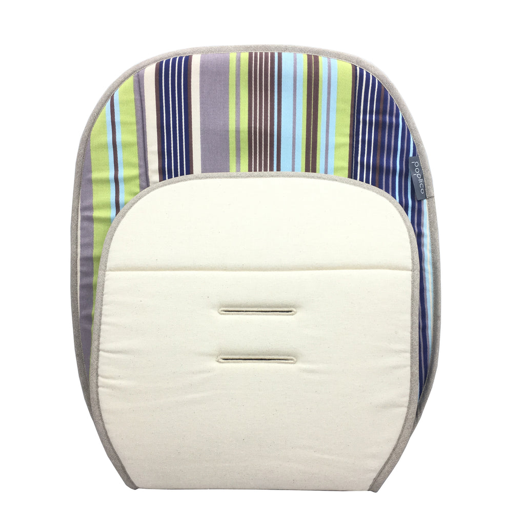 Universal-size Reversible Seat Liner for Baby Buggy. Machine washable
