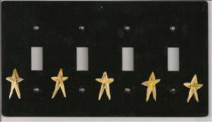 Primitive stars four switch switch plate