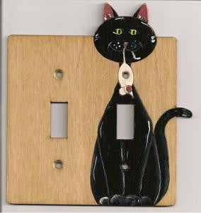 Cat and Mouse Double switch plate