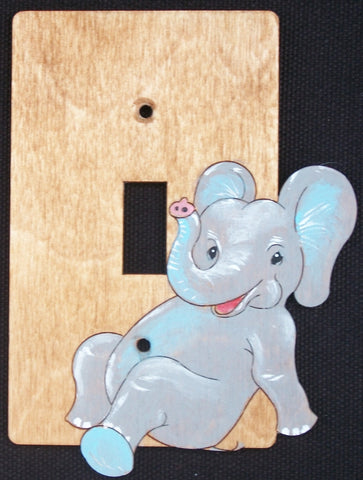 Elephant baby single switch plate