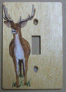 deer single switch plate