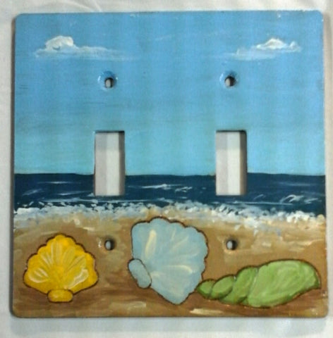 Seashells 2 switch plate cover full paint