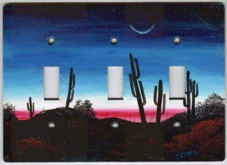 Desert sunrise Triple switch plate cover