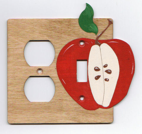 Apple switch and plug left combination switch plate cover