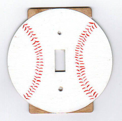 Baseball single switch plate