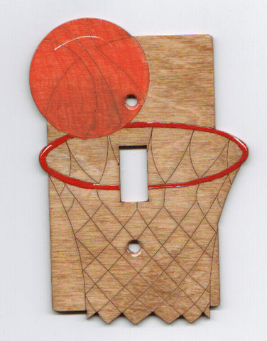 Basketball single switch plate