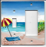 Beach scene Switch and Rocker-Gfi Right