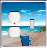 Beach Scene Switch and Plug Left
