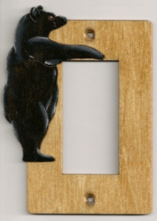 Bear Rocker Single switch plate
