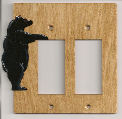 Bear Double Rocker Switch plate cover