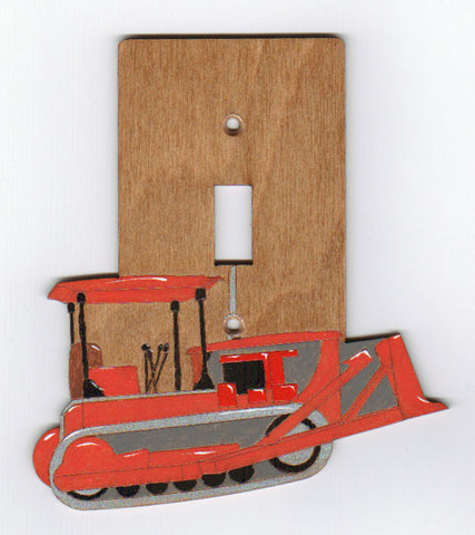 Bulldozer Single Switch plate