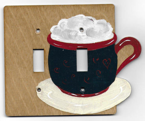 Cappuccino double switch plate
