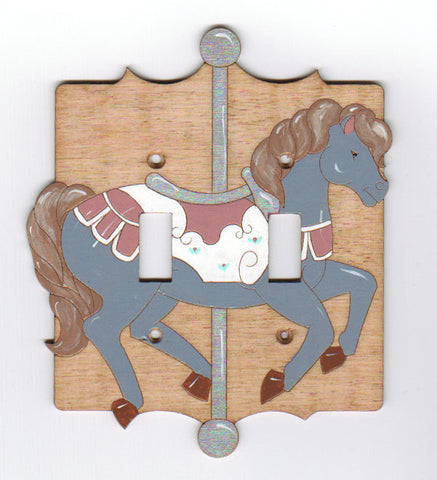 Carousel horse double switch plate