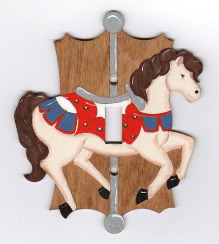 Carousel Horse single switch plate