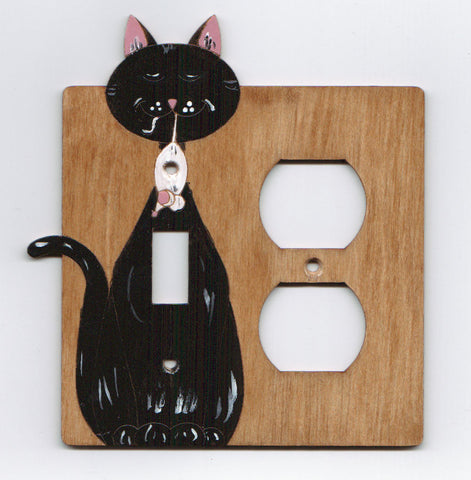 Cat and mouse plug right combination switch plate