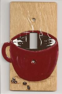 Coffee mug single switch plate