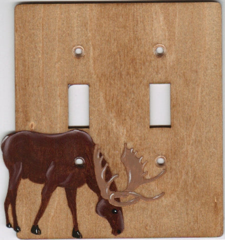 Moose double switch plate cover