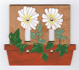 Daisy double switch plate