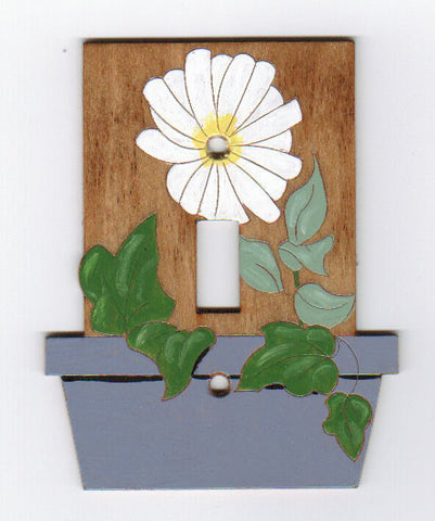 Daisy single switch plate
