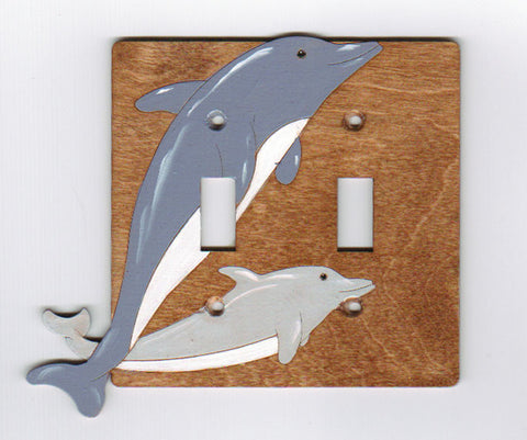 Dolphin Double Switchplate cover