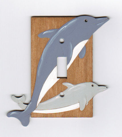 Dolphin Single Switchplate Cover