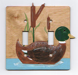 Duck Double Switch Plate