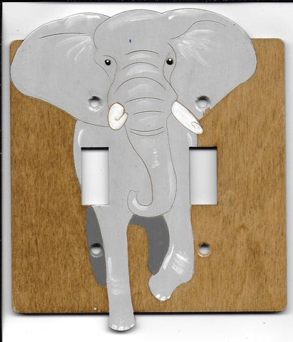 Elephant double switch plate cover