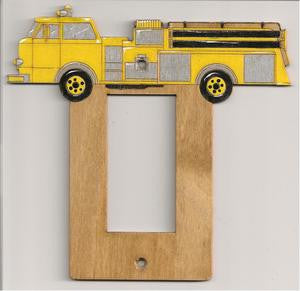 Firetruck rocker switch plate
