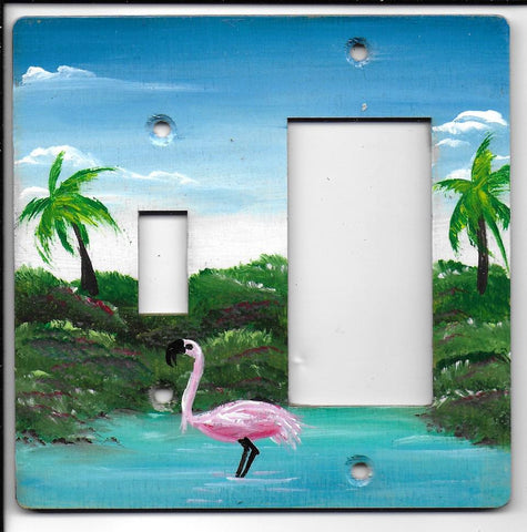 Flamingo switch and rocker-gfi right