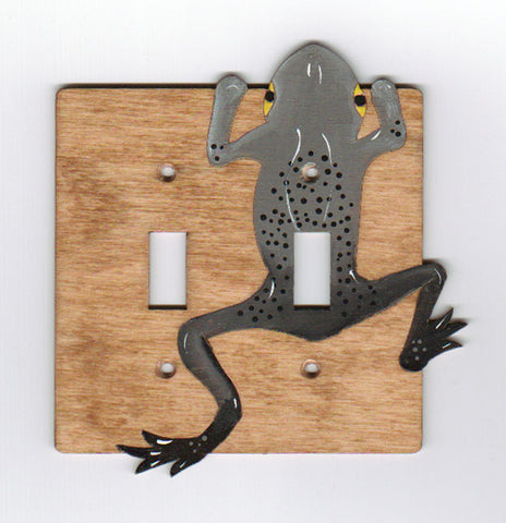 Frog double switchplate cover