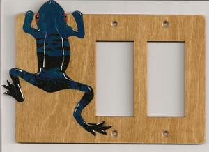 Frog Double rocker right switchplate