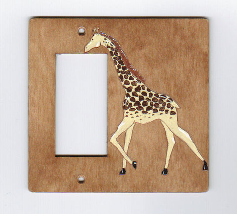 Giraffe Rocker switchplate cover